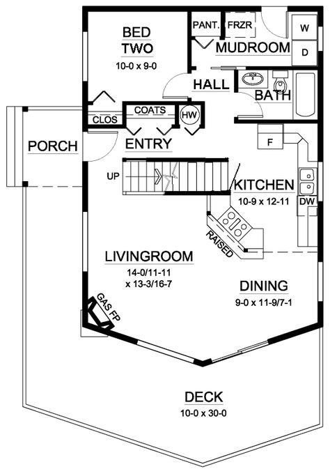 House Plan 99946 At Familyhomeplans Com A Frame House Plans Contemporary House Plans Cabin Floor Plans