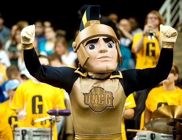 UNCG Spartan Mascot