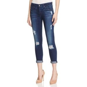 7 For All Mankind Josefina Skinny Boyfriend Jeans in Havsu Lake Blue