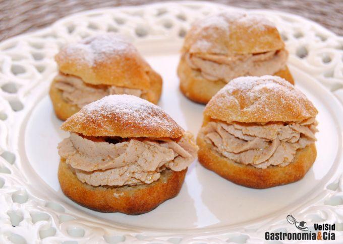 Profiteroles de boletus y crema de foie recipe - Profiteroles salados rellenos ...