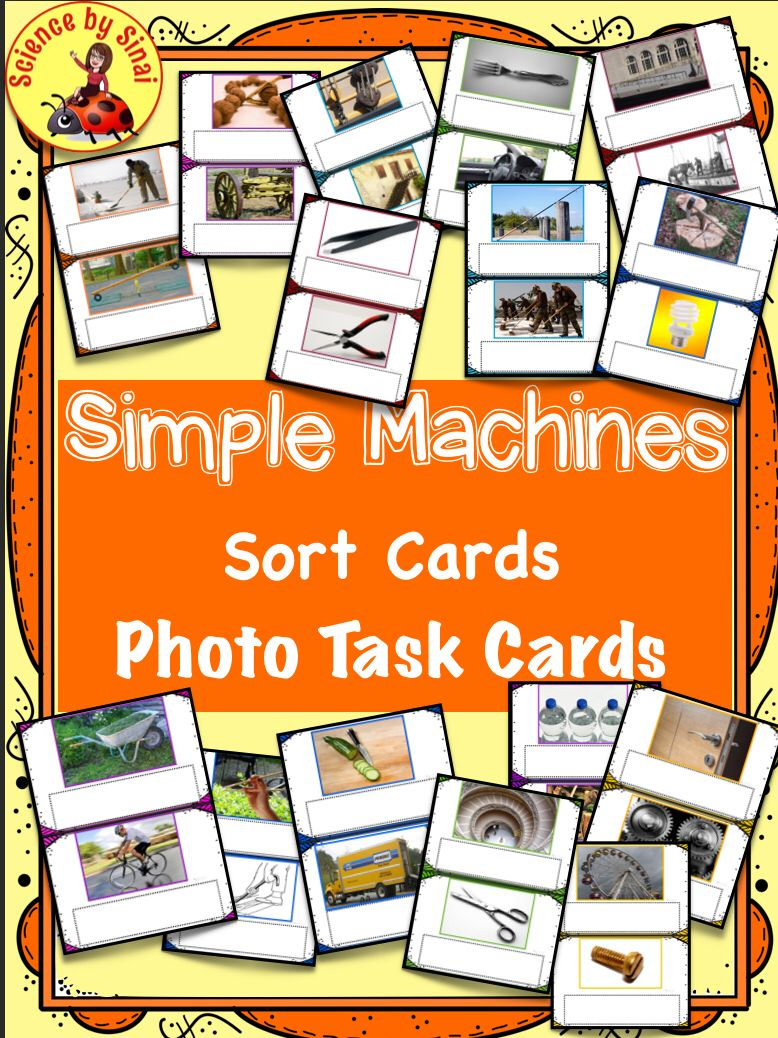 simple machines forces photo card task sort gallery