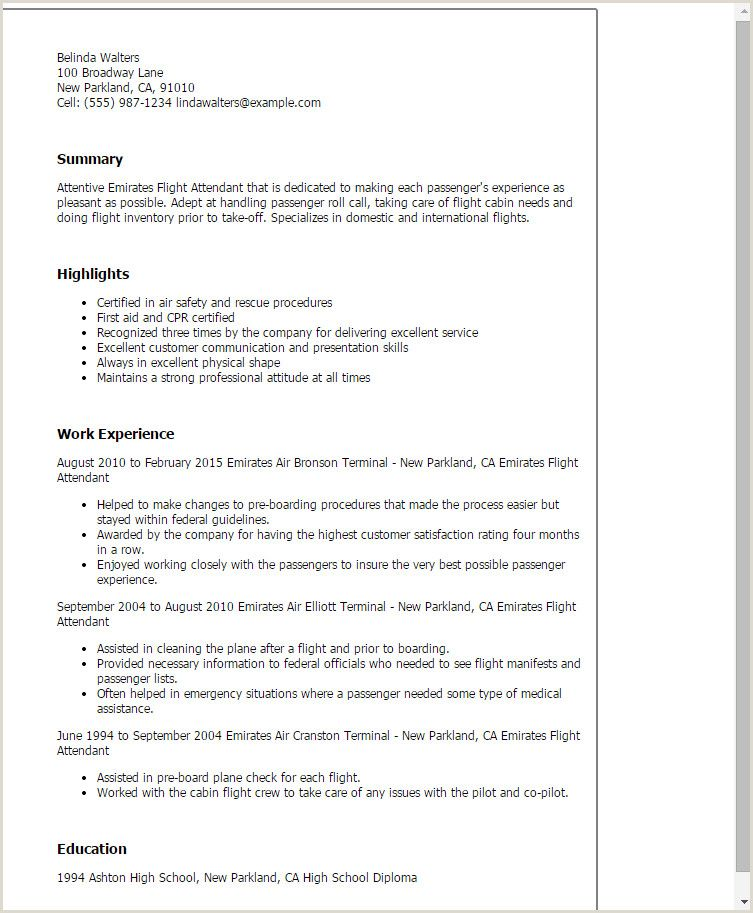 Standard Cv Format In Uae In 2020 Flight Attendant Resume