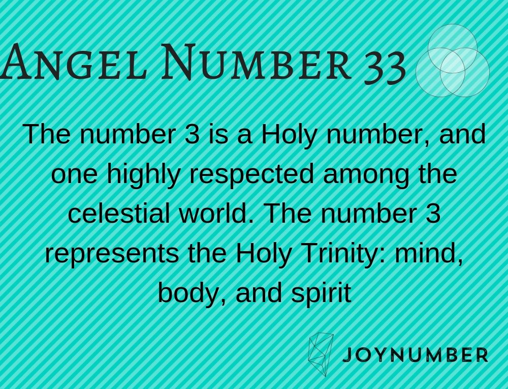 Angel Number 33 Don T Ignore This Highly Respected Holy Number