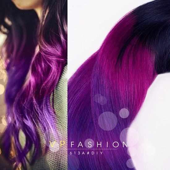Dark black brown to pastel ombre hair color trends 2015 long dark black pink purple ombre hair extensions pmusecretfo Images