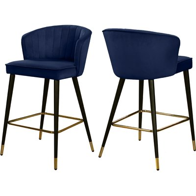 Stratton 28 Bar Stool Upholstery Navy In 2020 Bar Stools Velvet Stool Stool