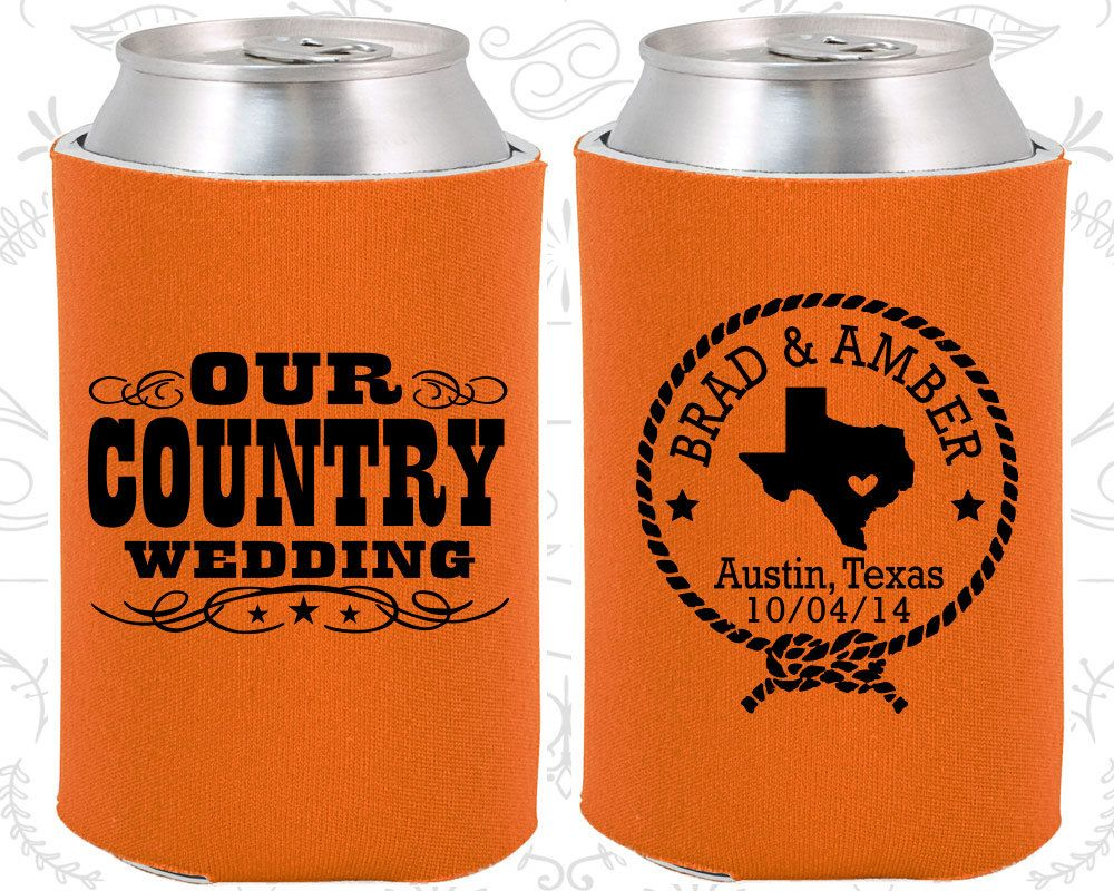 Custom Wedding Coolies 100% Personalized - | Rustic wedding gifts, Country  wedding gifts, Country wedding favors