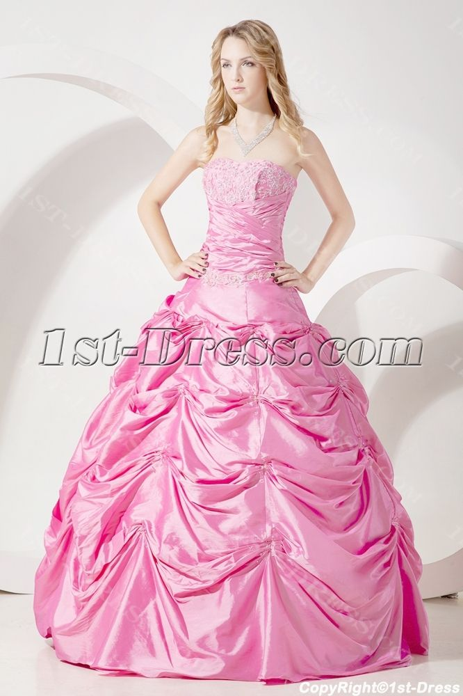 Pretty Pink Quinceanera Dresses Cheap:1st-dress.com | Pink ...