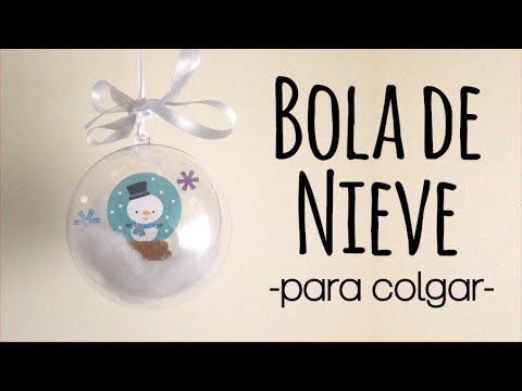 65b07e1a79a Bola transparente con aspecto nevado para decorar tu árbol de navidad.  ------------------------------------------- BLOG  scraparizate.blogspot.com  FACEBOOK  ...