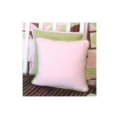 Brandee Danielle Modern Baby Girl Caffe Throw Pillow Color: Pink