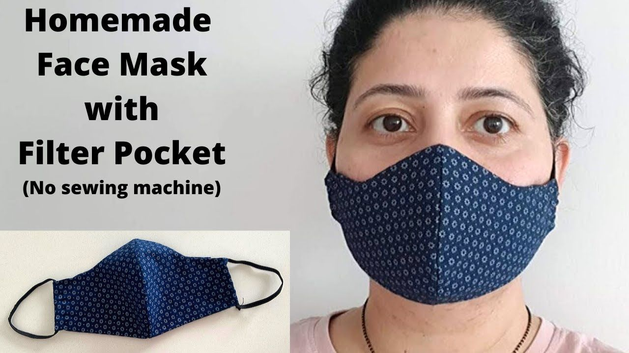 Photo of MAKE FABRIC FACE MASK AT HOME | DIY Face Mask with Filter Pocket | Easy Sew Mask with Free Pattern
