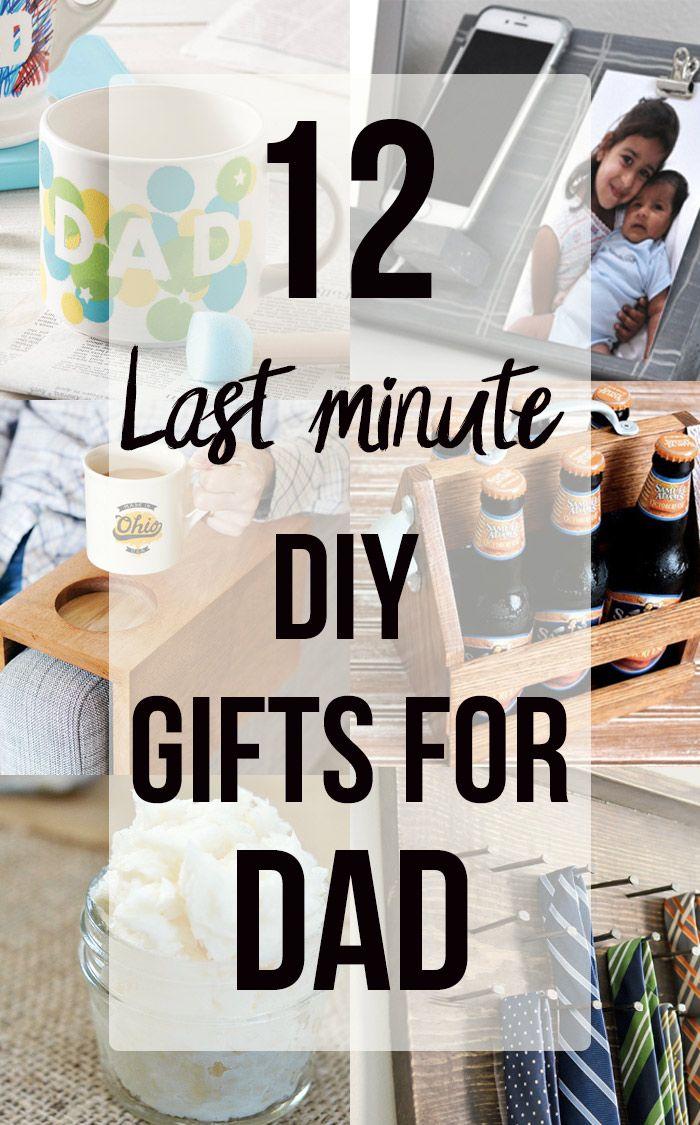 12 Handmade Gift Ideas for Him - Last Minute DIY Presents He Will Love! -   15 diy Presents for dad ideas