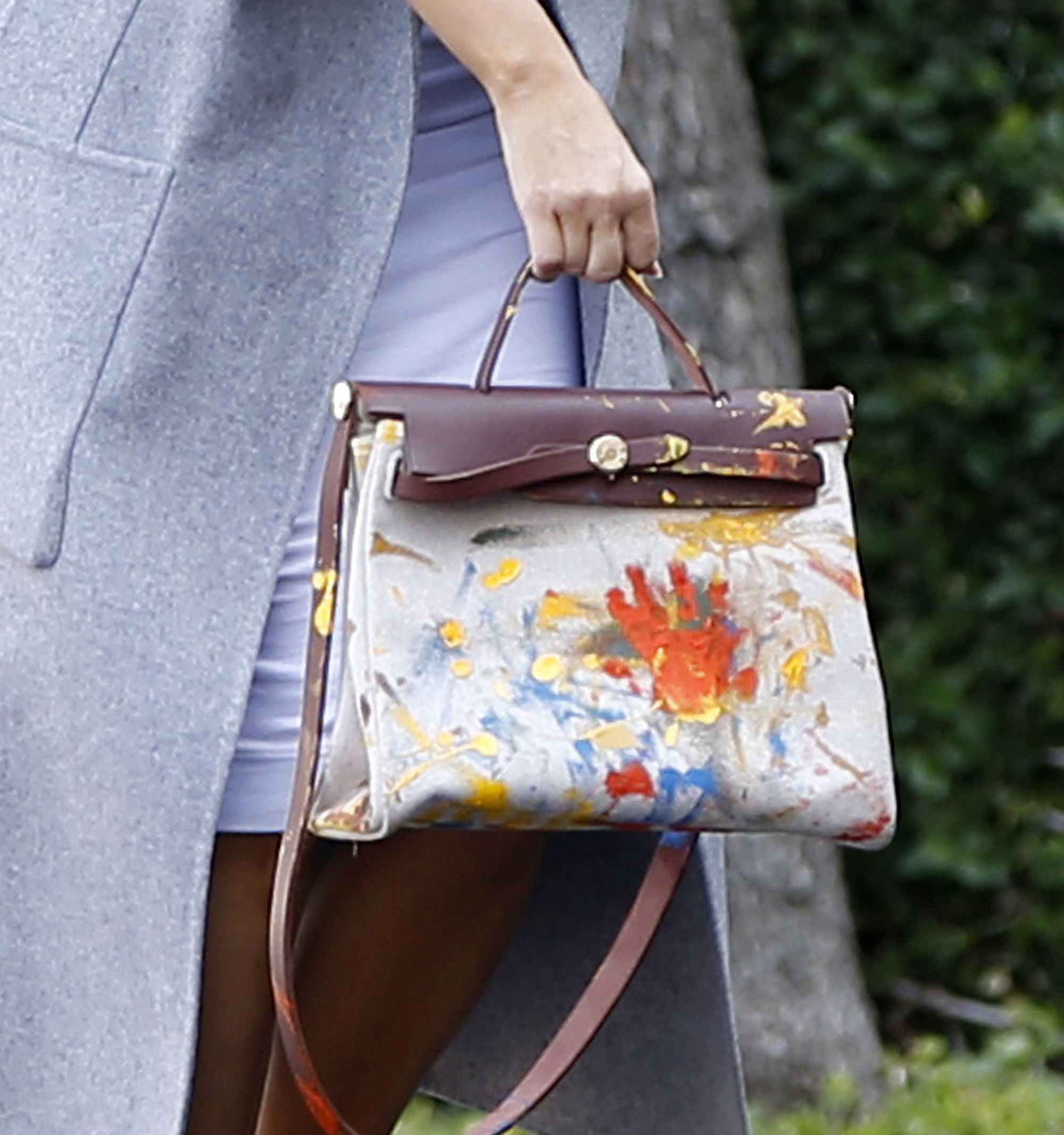 fedae28c04 Here s the Hermès Bag North West Painted for Mom Kim Kardashian