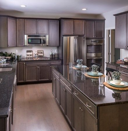 Dark style kitchen cabinets and counters in Middletown, Delaware ...