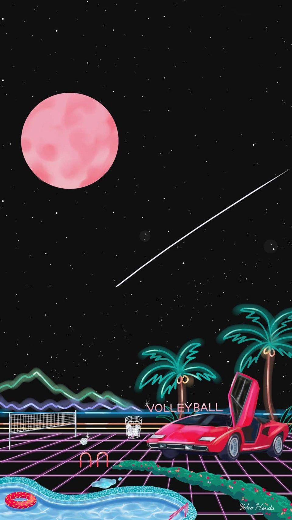By Yoko Honda Vaporwave Wallpaper Aesthetic Iphone Wallpaper