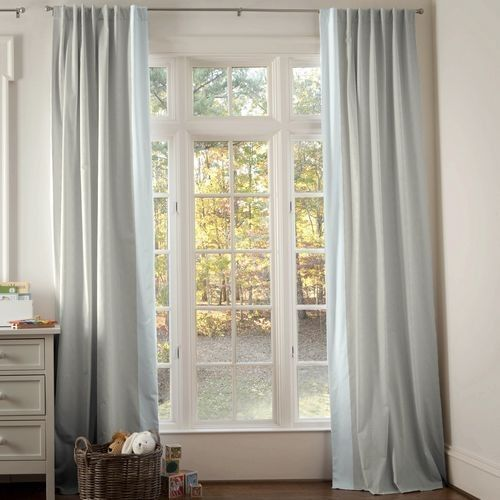 Blue Linen Curtains - Curtains Design Gallery