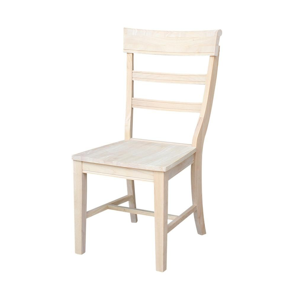 International Concepts Hammerty Unfinished Wood Dining Chair Set Of 2 C 36p The Home Depot Solid Wood Dining Chairs Unfinished Dining Chairs Unfinished Wood Chairs