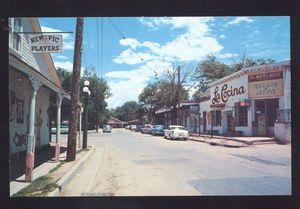 1950's CARS ALBUQUERQUE NEW MEXICO LA COCINA MEXICAN RESTAURANT STREET POSTCARD