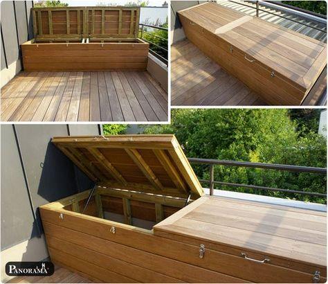 coffre en bois exotique ipe verin a gazin taille xxl grand. Black Bedroom Furniture Sets. Home Design Ideas