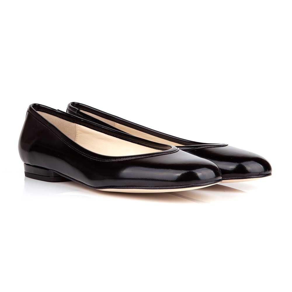 b86007b990ec Cara B Black Faux Leather Vegan Flat Shoes