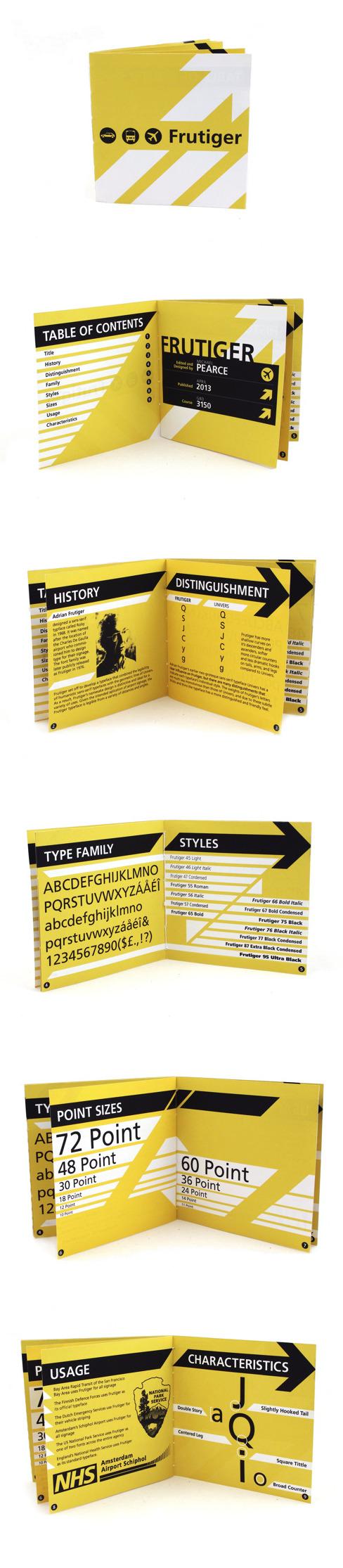 Frutiger Type Specimen Booklet By Michael Pearce