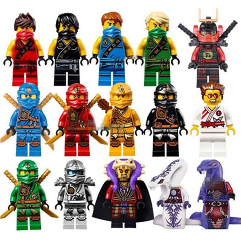 Jkela Muito Figura Ninja Blocos Cole Jay Kai Zane Nya Lloyd