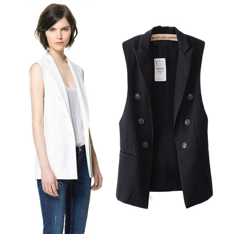 321219c86 Click to Buy << Star Same Style Double Breasted Middle Long Suit ...