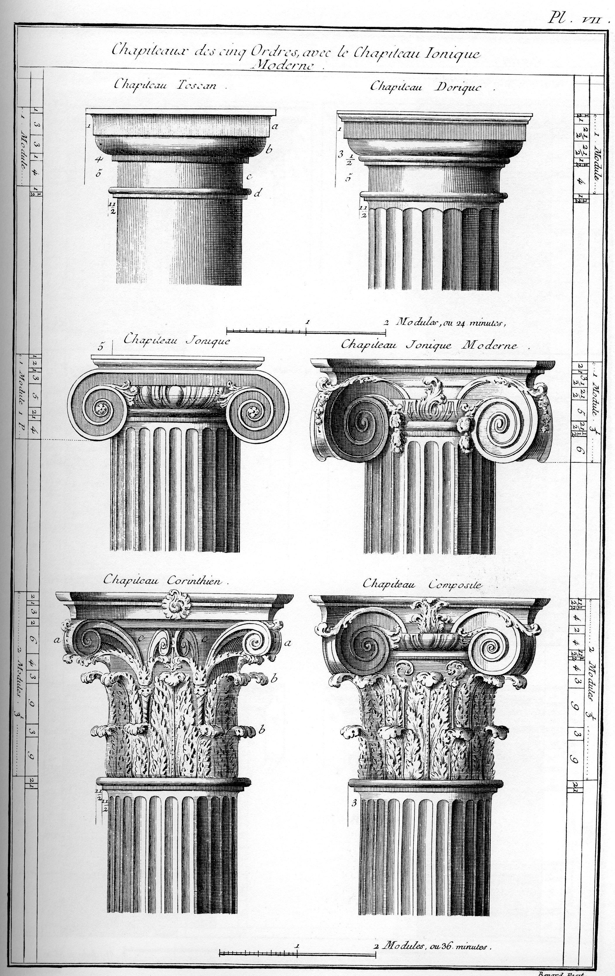 Column Illustration In