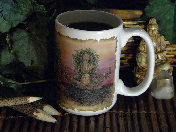 Dryad Spirit Fantasy Art 15 oz Coffee Mug by MickieMuellerStudio