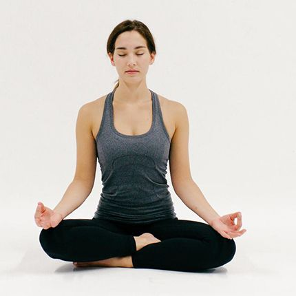 easy pose yoga find a comfortable crosslegged position