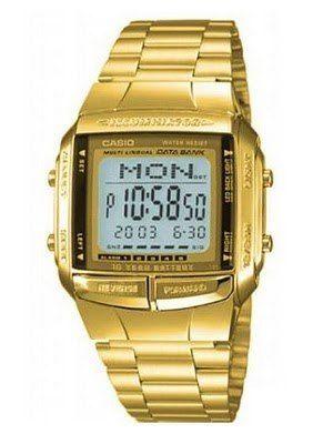 1a6563e7607d Reloj Casio Db-360 Vintage Gold Data Bank Dorado 30 Memorias ...