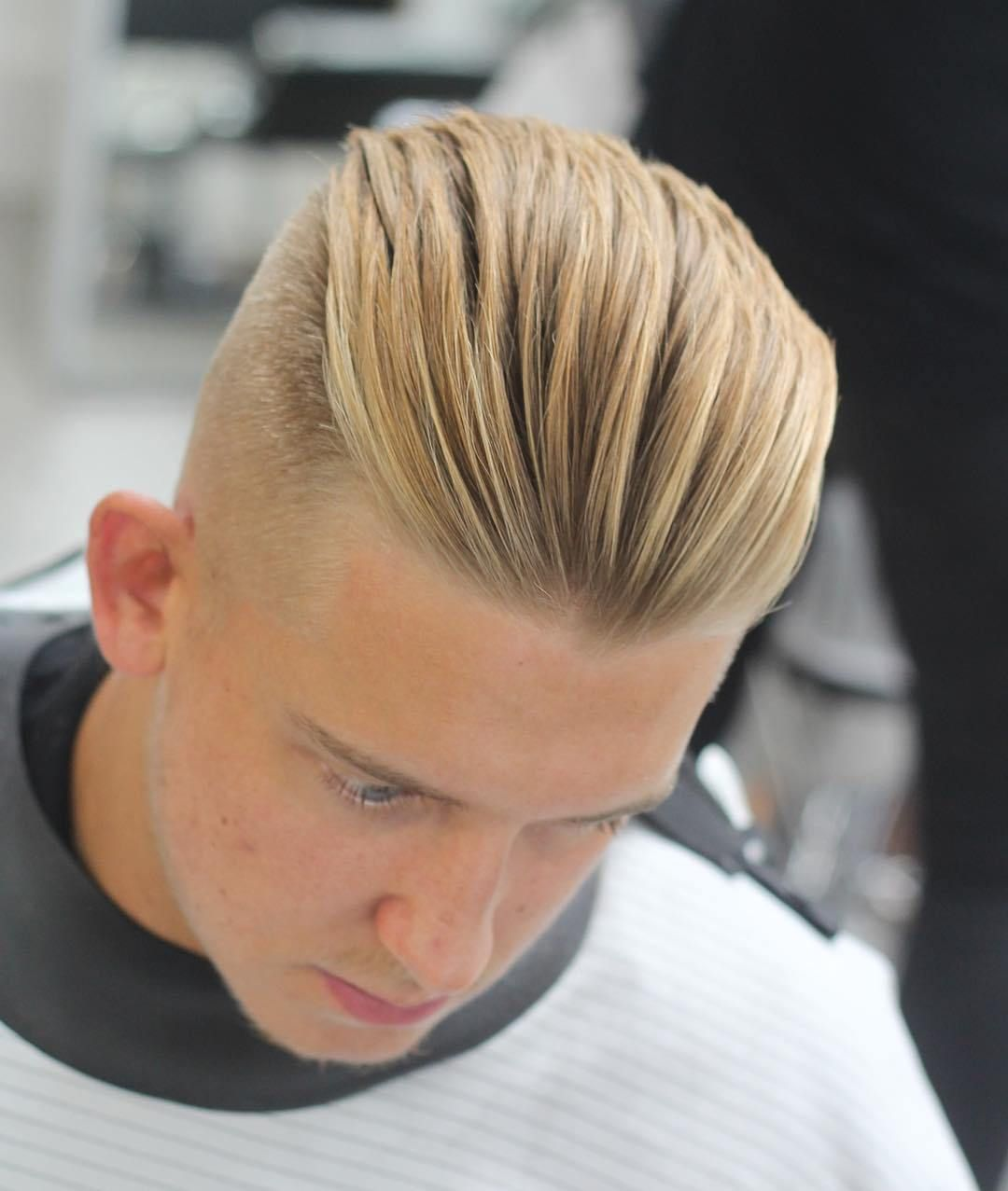 Slicked Back Haircuts Men Haircuts For Blonde Hair Hair Styles