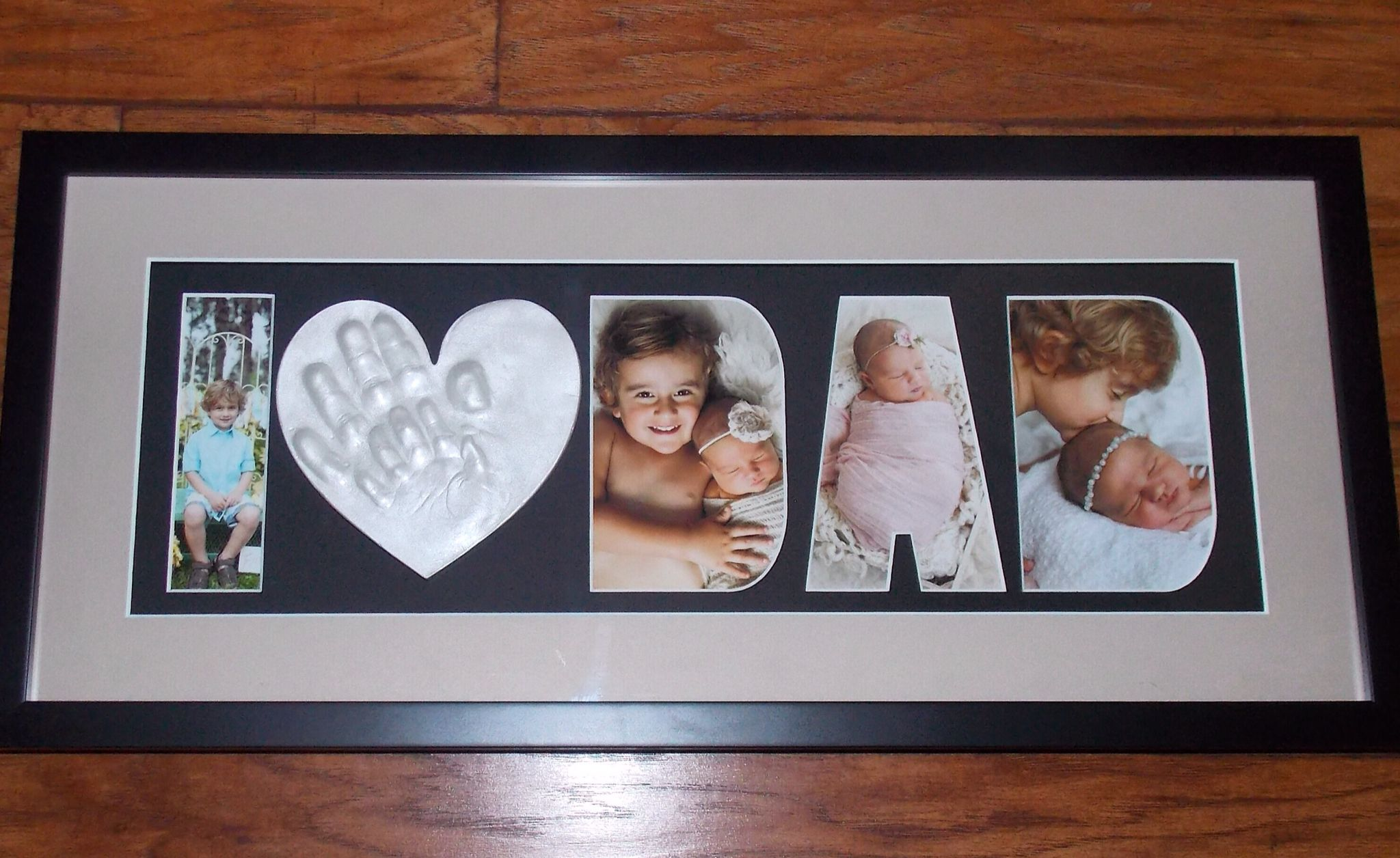 Sibling Hand Ornament In An I Love Dad Frame Raised Impressions