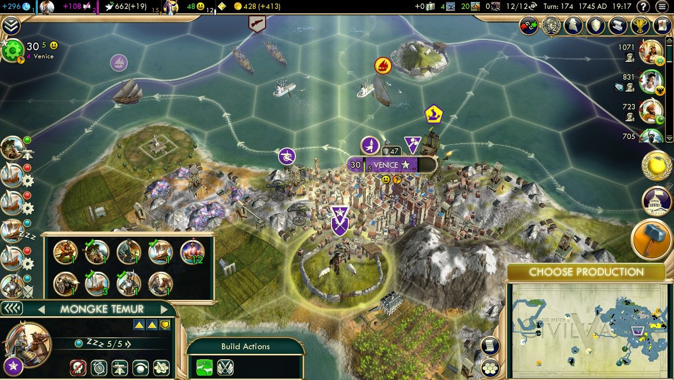 Mildly Interesting Playing As Venice Civ V Waiting For A Merchant Of Venice As A Gift From A City State Got A Mongul Kh City Venice Civilization Beyond Earth