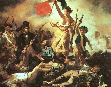 Eugène Delacroix - 1830. Narra los hechos de 1830 el pueblo francés se levanta en contra del rey Carlos X, que quería restringir la prensa.