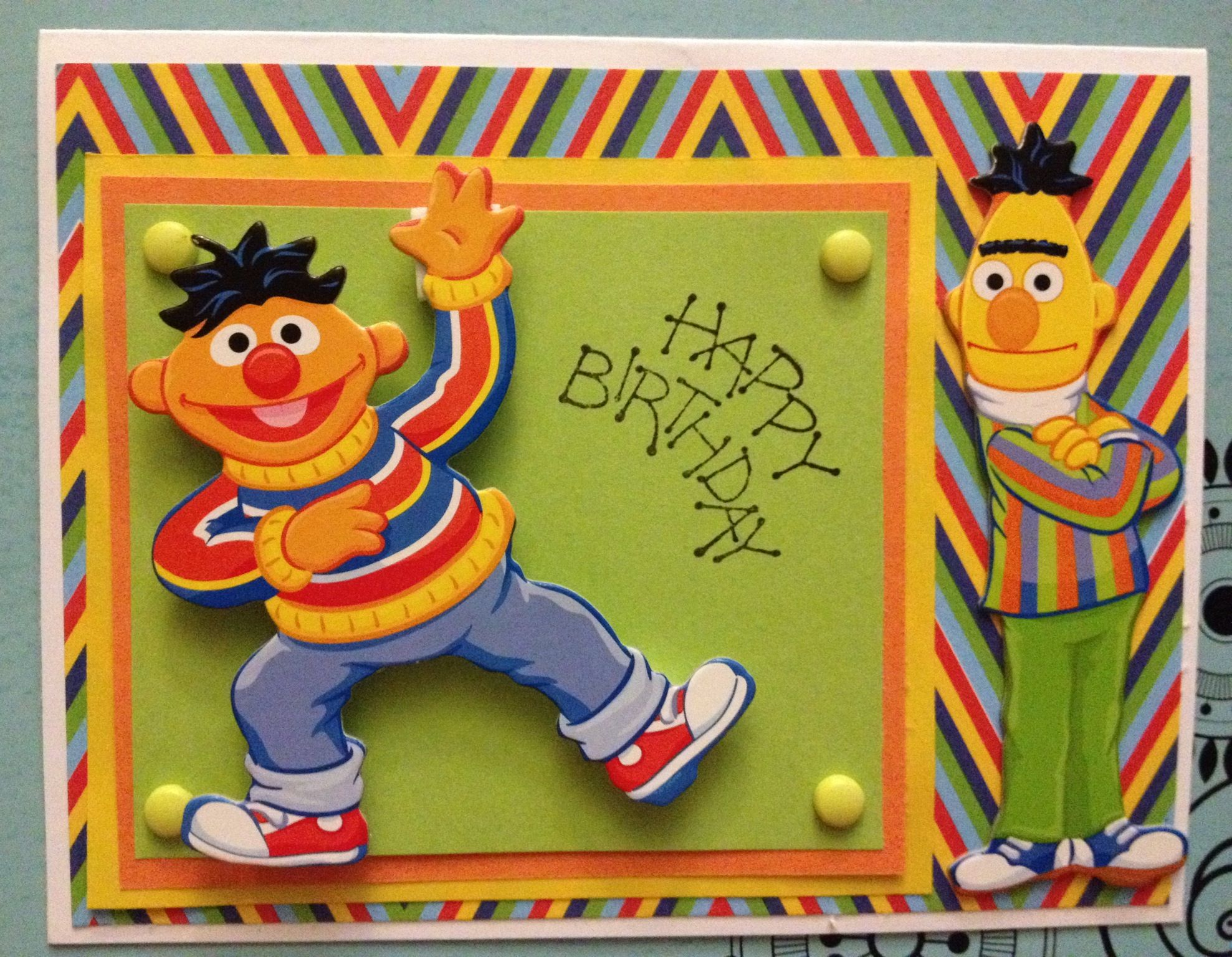 Birthday Card Bert And Ernie
