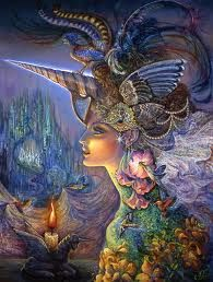 My Lady Unicorn - Fantasy Goddess by Josephine Wall