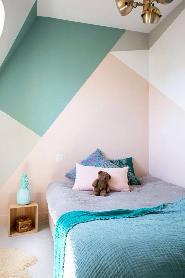 Gave manier van je muur beschilderen | Mobiliario | Pinterest | Pinturas