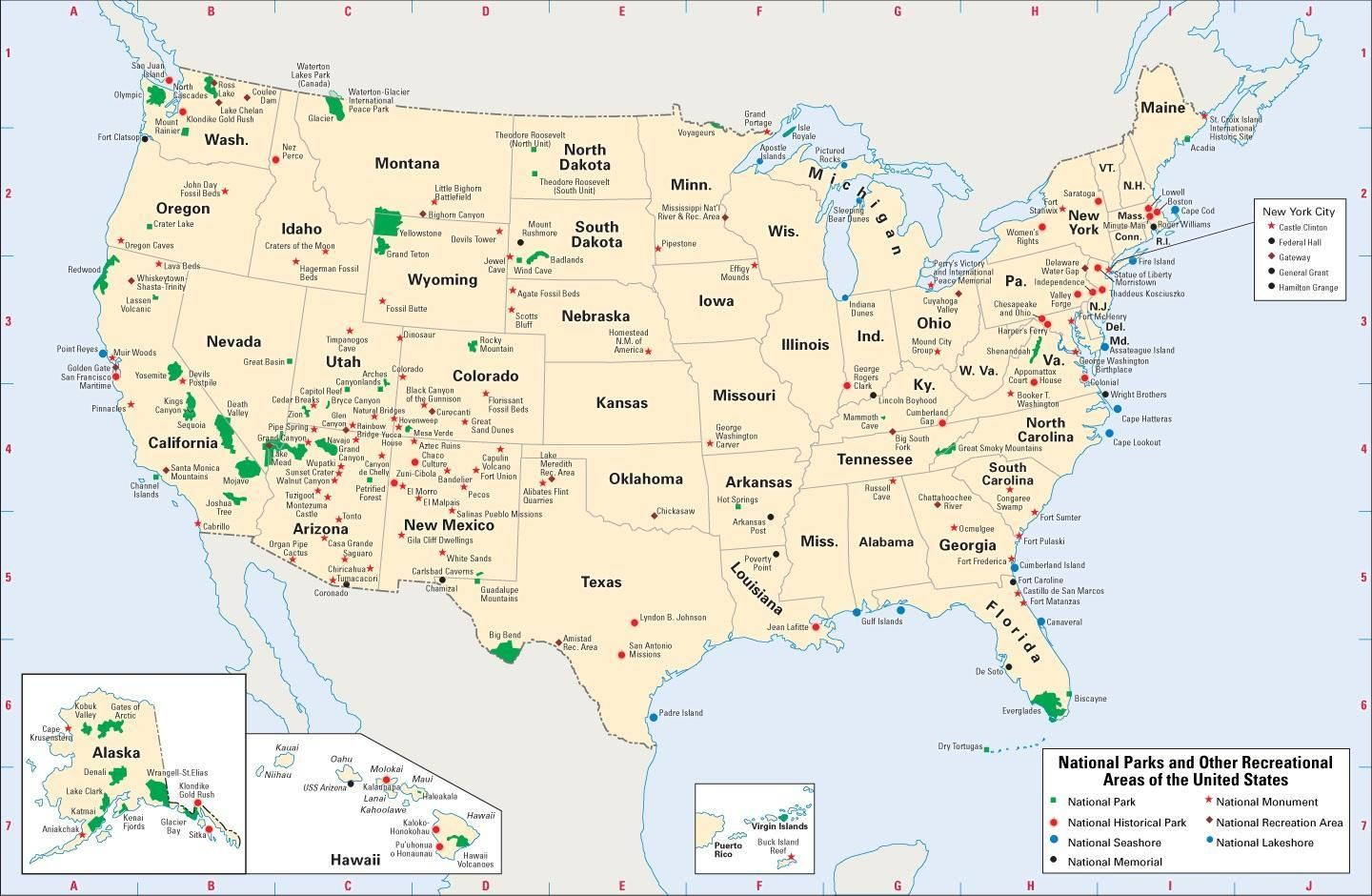 U.S. National Parks | National parks map, Us national parks ...