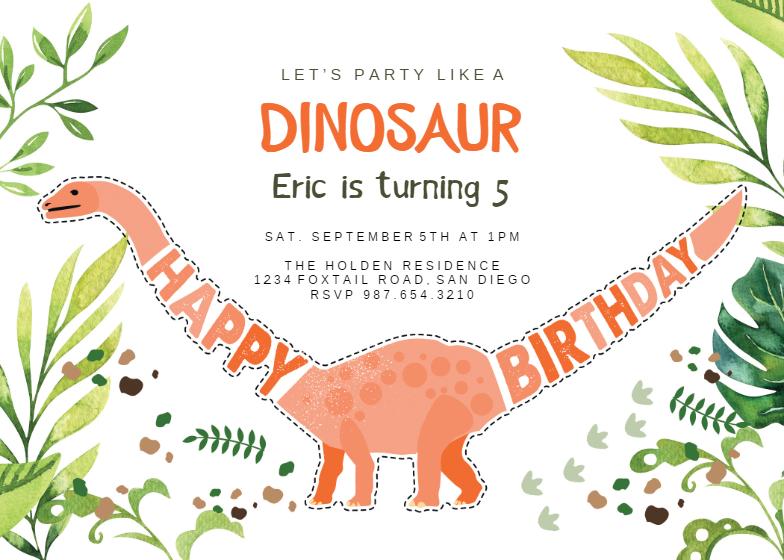 dinosaur birthday invitations dinosaur