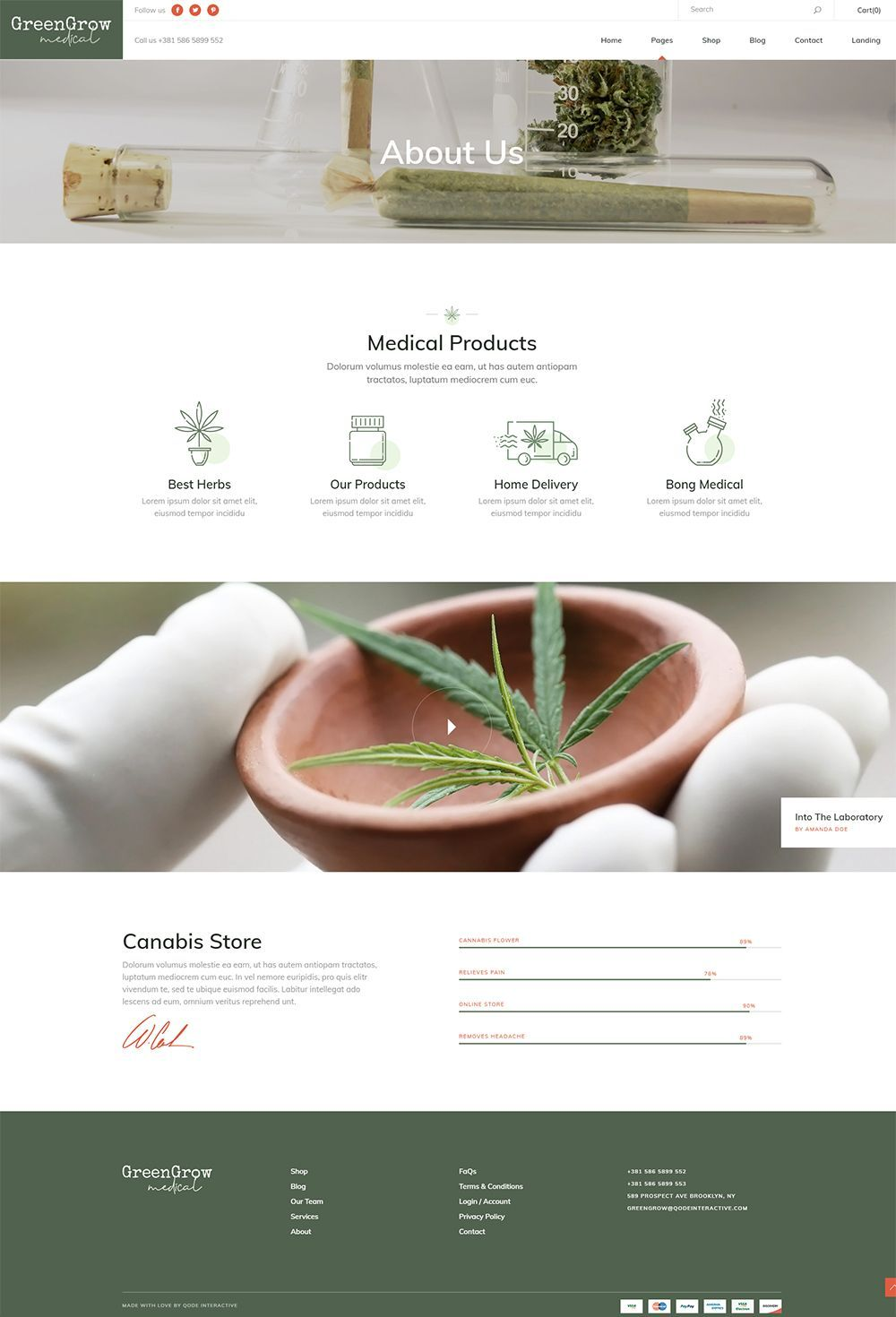 GreenGrow WordPress theme is designed to help you medical marijuana and cannabis business reach new heights. #wordpress #theme #design #webdesign #uxdesign #uidesign #responsive #designinspiration #webdesign #wordpresslove #template #layout #websitedesign #branding #websiteideas #webart #webpage #visual
