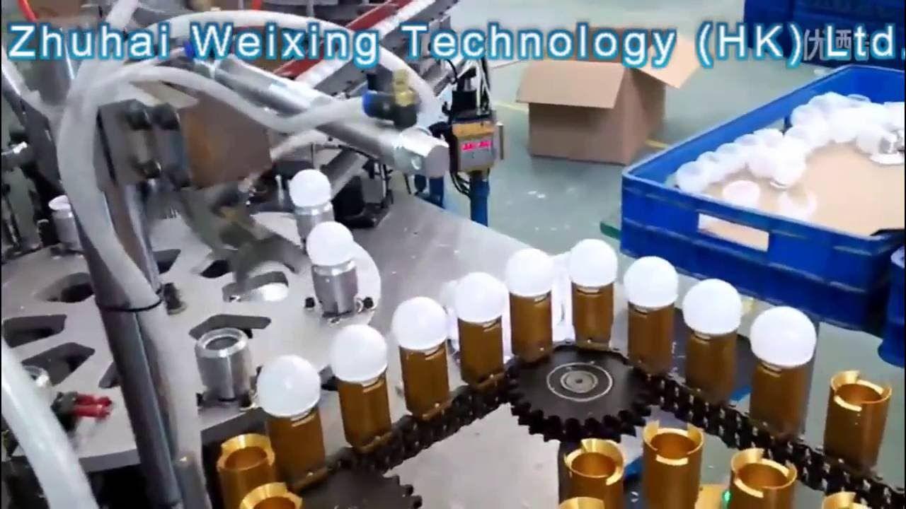 LineMake LED Bulb Factory Automatic China Light Production IYb7yf6gv