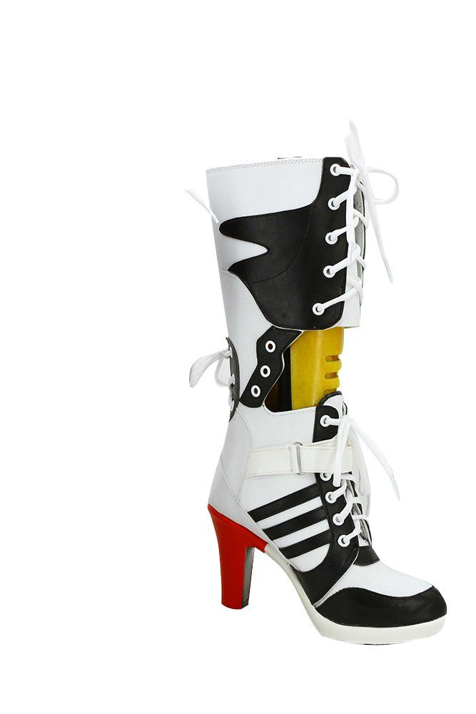 981504c432f2e8 Daiendi Batman Suicide Squad Harley Quinn Movie Cosplay Costume Shoes Boots  High Heels Halloween Party boots