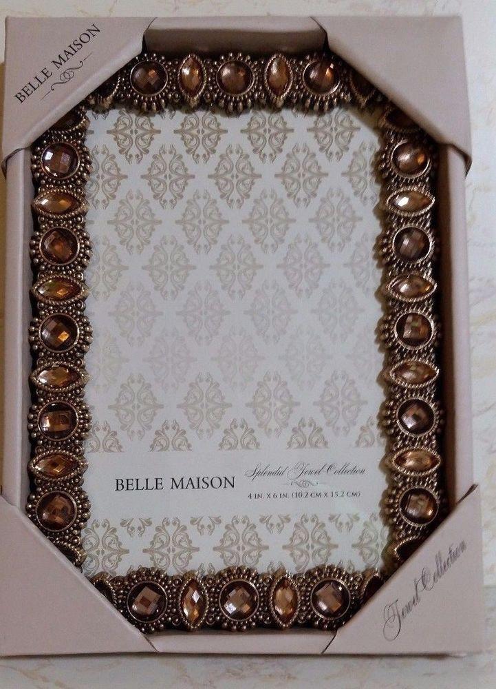Belle Maison Gold Topaz Bling Picture Frame Splendid Jewel