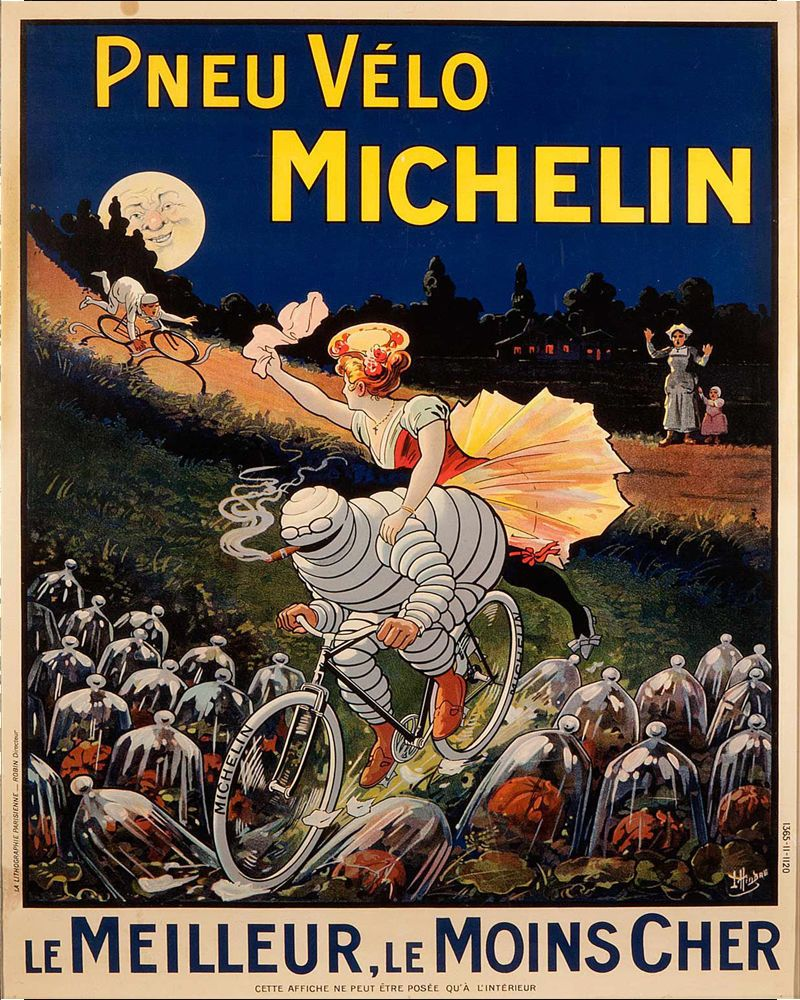 VINTAGE 1925 MICHELIN TYRES ADVERTISING A3 POSTER PRINT