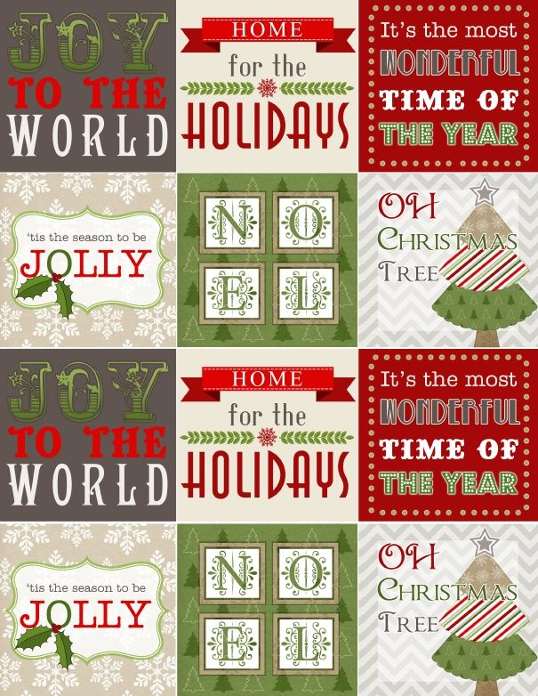 Free Printable Christmas Labels Use As Stickers Part Of A
