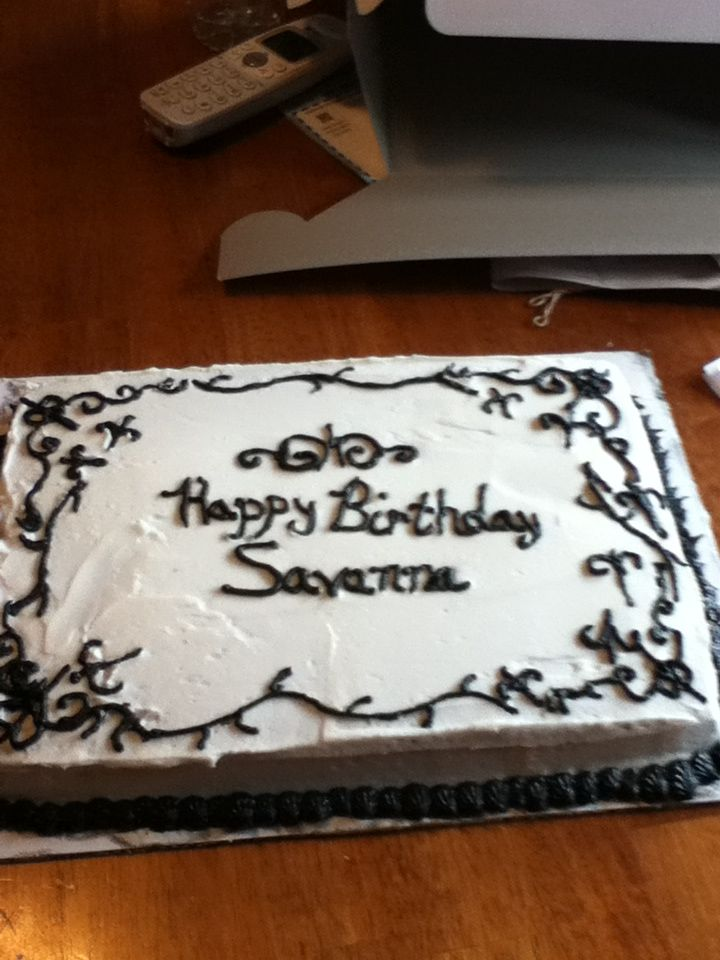 Birthday cake to match a pillow design