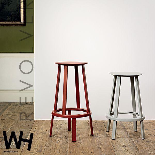 Der REVOLVER Hocker, von WRONG FOR HAY : 2 Höhen zur Verfügung stehen, auf Aluminium-Kugellager montiert Sitz - Design: Leon Ransmeier