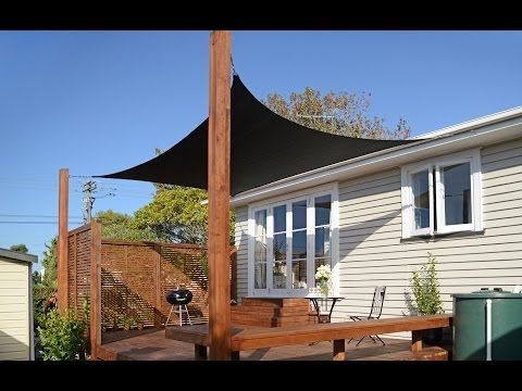 how to put up a shade sail mitre 10