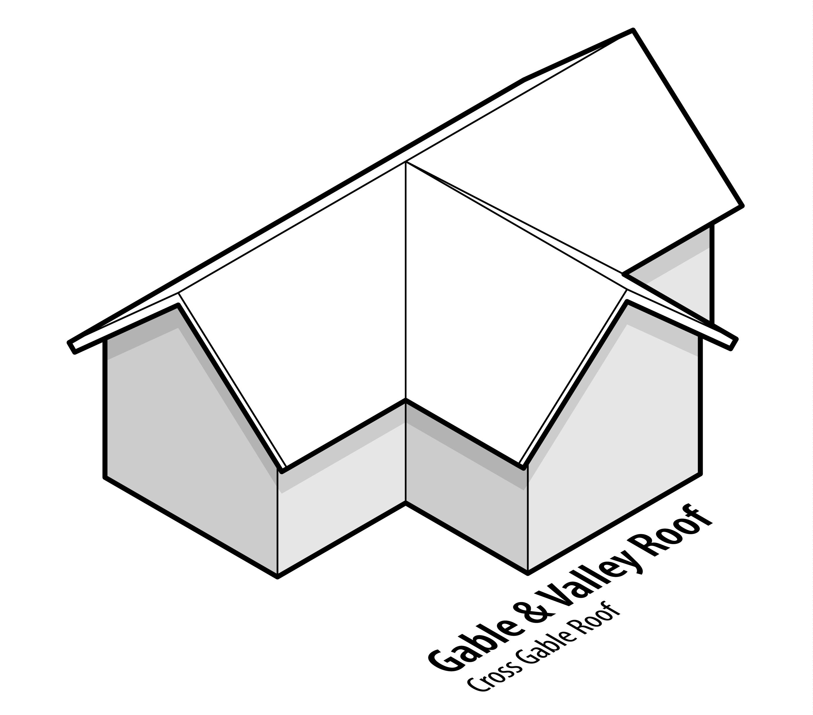 hight resolution of cross gable roof design