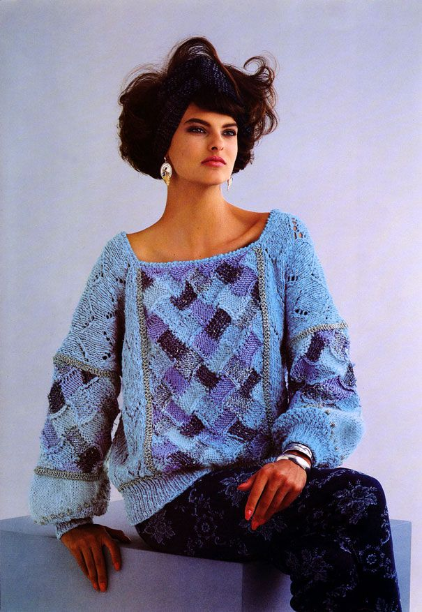 Linda Evangelista for Anny Blatt, 1985 - 80s inspiration for CATs Vintage - 1980s style - fashion